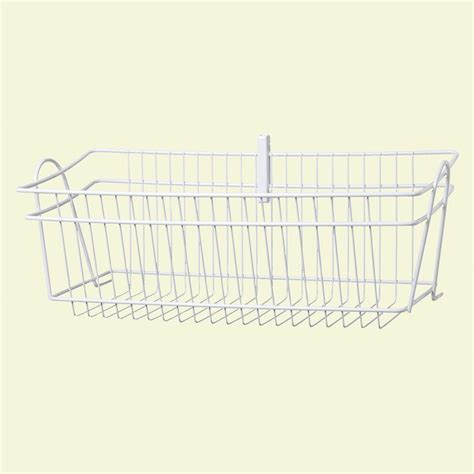 Closetmaid Baskets Closetmaid Shelftrack 8 In H Wire Basket 2840 The Home