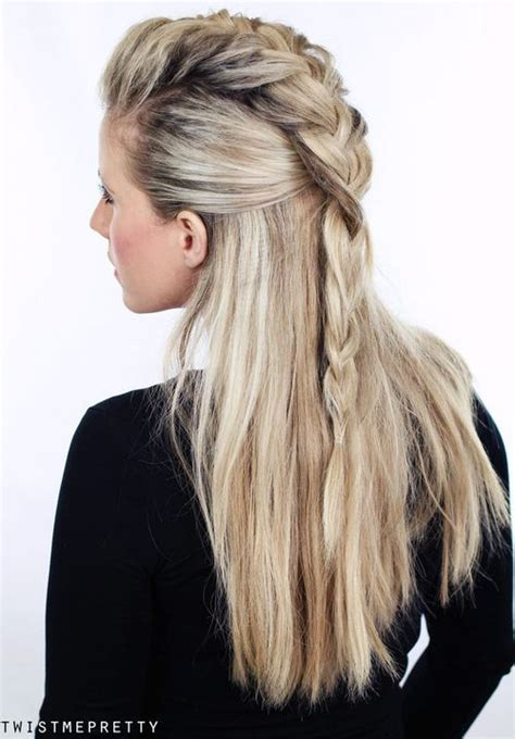 hairstyles with half of in braids 20 trendy half braided hairstyles