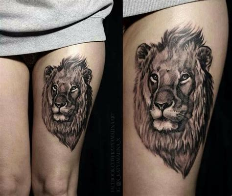 lion head tattoo ink pinterest