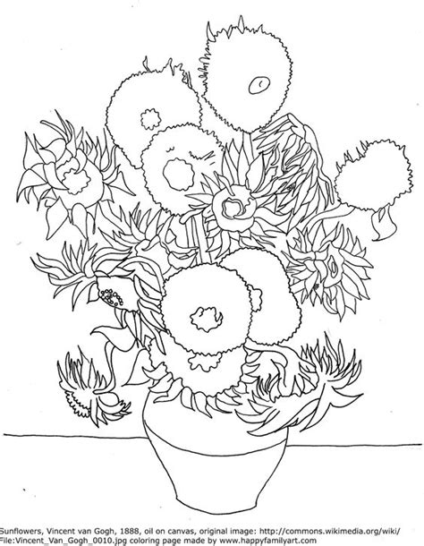 van gogh famous paintings coloring pages famous art and