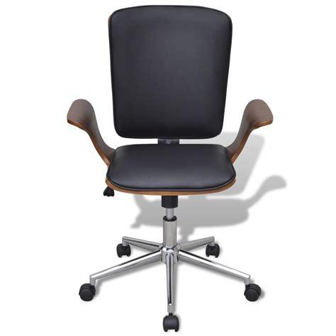 sedie legno curvato sedia da ufficio girevole in legno curvato e pelle