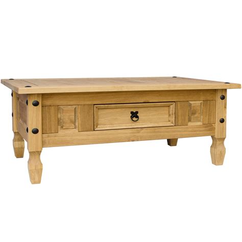 Corona Coffee Table With Drawer Console Table Mexican Corona Coffee Table With Drawer