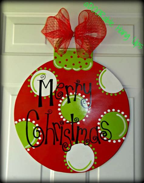 christmas ornament door hanger on etsy 30 00 christmas