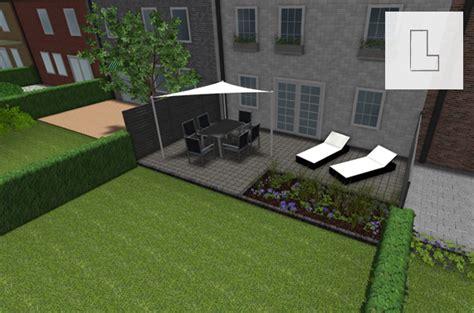 terrasse l form gefälle pflastersteine beton und naturpflaster materialien im