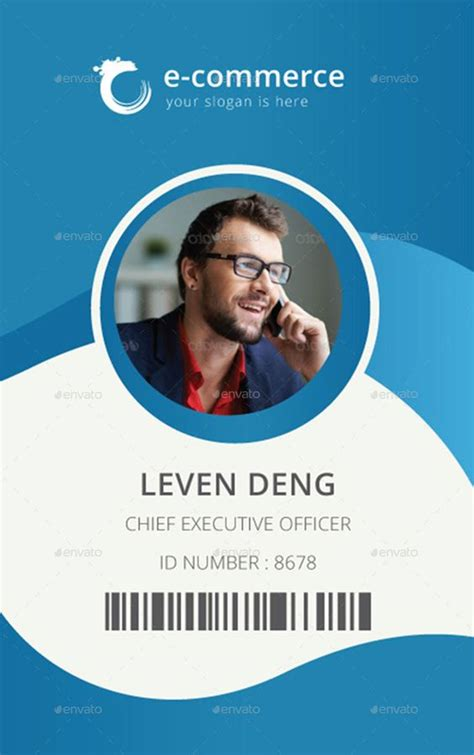 identification card template template for identification card id badge