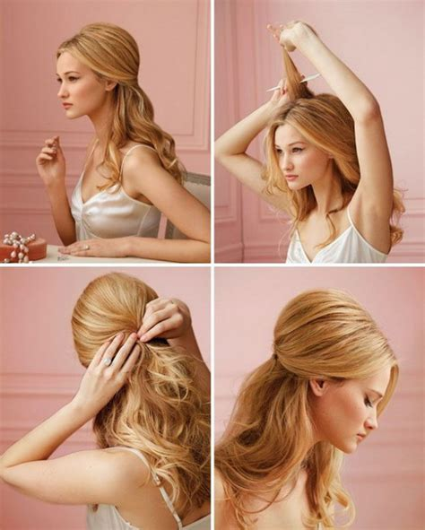 easy half up half down hairstyles video 30 fashionable half up half down hairstyles to make you