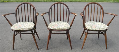 Kitchen Armchairs by Set Of Three Elm Kitchen Armchairs By Ercol