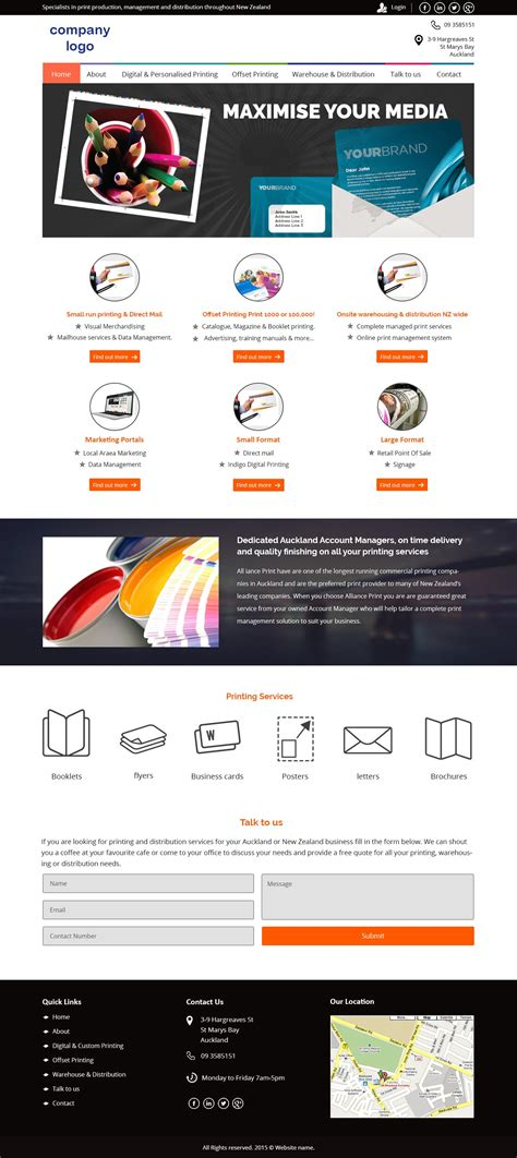 Business Card Printing Website Template Images Card Design And Card Template Printing Company Website Template