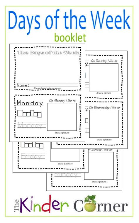 second day of week 28 days of the week worksheets for second grade