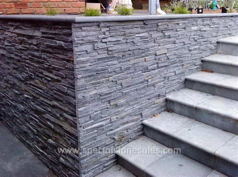 Exterior Black Slate Panel Stone Wall Cladding Tile Cladding For Garden Walls