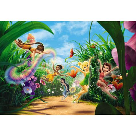 tinkerbell wall murals komar disney fairies meadow wall mural 8 466