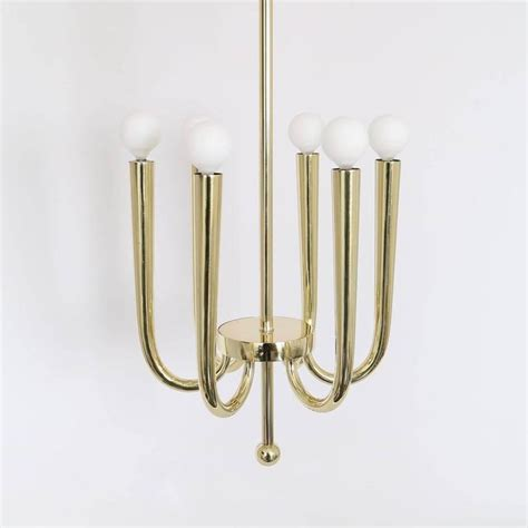 Gio Ponti Chandelier Italian 1930s Brass Chandelier Attributed To Gio Ponti For Sale At 1stdibs