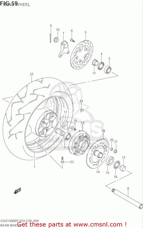 hayabusa parts diagram suzuki gsx1300 r z hayabusa 1999 2003 usa rear wheel