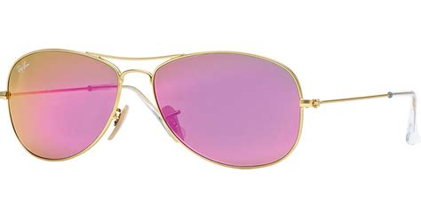 0204s Pink Pink Mirror Lens lyst ban aviator sunglasses with pink mirror lens in pink