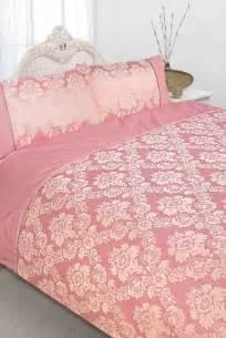 pink damask duvet pink jacquard damask floral duvet quilt cover bedding set