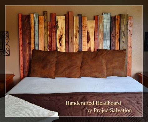 Reclaimed Wood Headboard King Reclaimed Wood King Size Headboard By Projectsalvation On Etsy