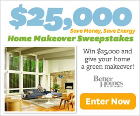 inspiring home and garden sweepstakes 5 better homes and