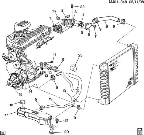 chevy parts diagrams s10 engine diagram also chevy s10 2 2l engine parts