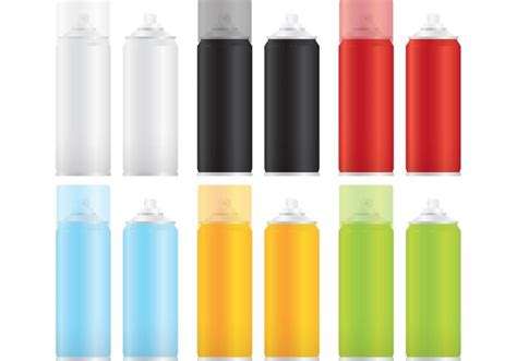 spray paint mockup paint spray can vector free vector stock