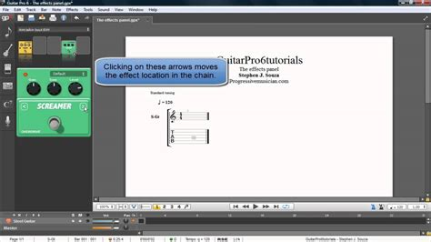 tutorial guitar pro 5 guitar pro 6 tutorial the effects panel youtube