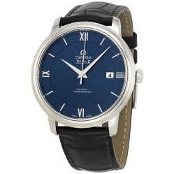 omega de ville prestige blue black leather s