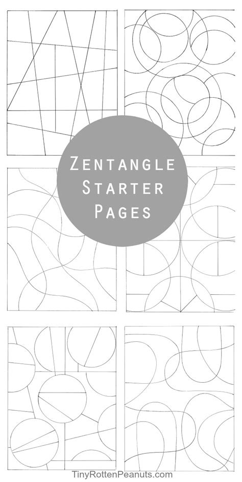 printable zentangle starter pages inspired by zentangle patterns and starter pages art for
