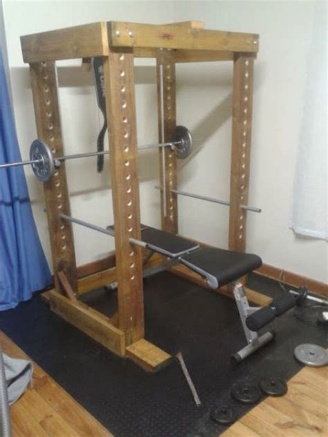 power rack diy equipment project interior