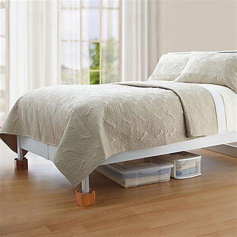 bed lifts mahogany wooden bed lifts set of 4 bed bath beyond