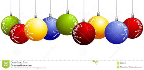christmas ornaments clipart border pencil and in color