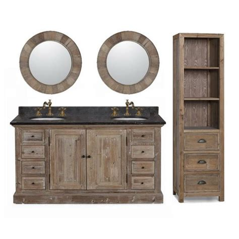 Bathroom Vanity With Matching Cabinet 60 Inch Marble Top Sink Rustic Bathroom Vanity With