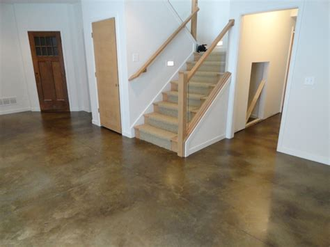 how to stain a concrete basement floor stained concrete basement floor traditional basement