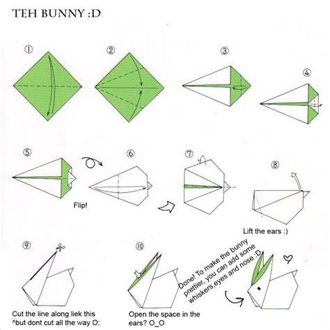 Origami Kite Base - bunny from kite base origami and kirigami