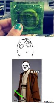 Funny Condom Memes - jedi condom by innyoface meme center