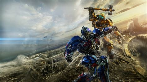wallpaper hd transformer 5 bumblebee vs optimus prime transformers the last knight 5k
