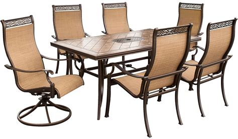 Big W Deck Chairs by Hanover Brown 7 Outdoor Dining Set Monaco7pcsw