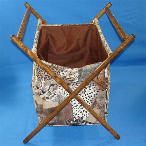 knitting baskets and bags safari folding fabric sewing knitting crochet basket tote