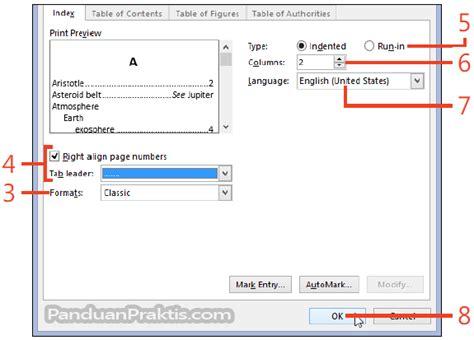 cara membuat use case di word cara membuat index dokumen di word 2013
