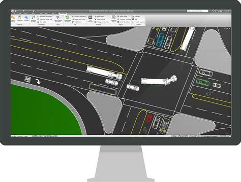 dot pattern microstation autoturn swept path analysis software for vehicle turn