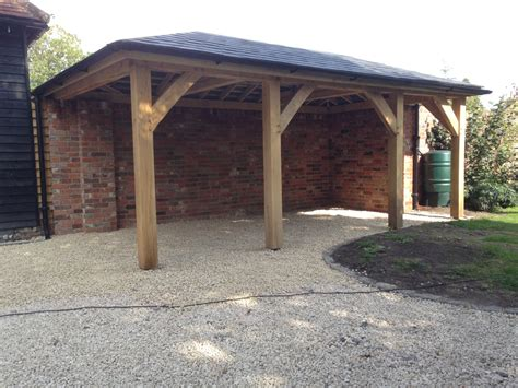 wood car porch oak framed carport tradoak case study