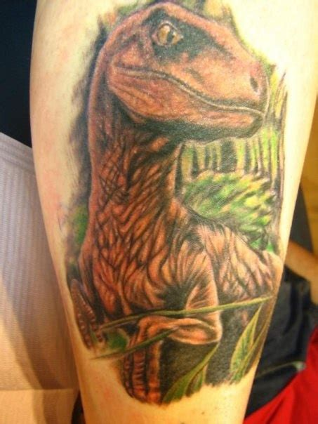 my jurassic park raptor done by justin page at ink