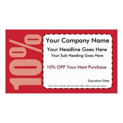 business cards coupon 10 coupon sided standard business cards pack