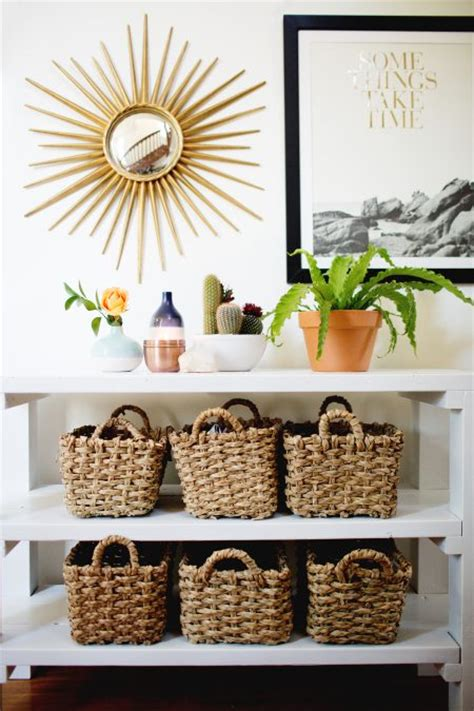 entryway table with baskets 15 amazing entryway storage hacks ideas you ll