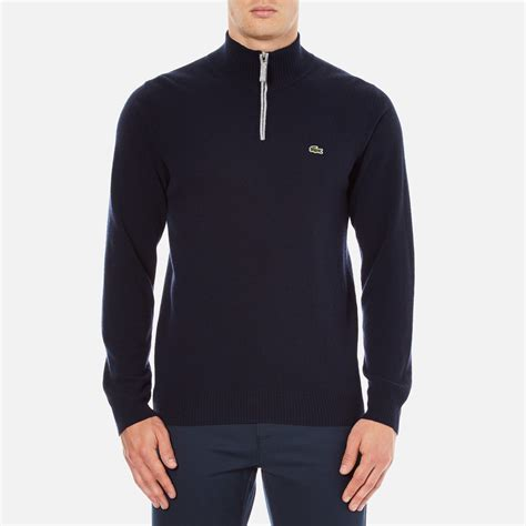Jaket Zipper Hoodie Sweater Hardwell Navy lacoste s half zip funnel neck sweatshirt navy blue silver chine free uk delivery 163 50