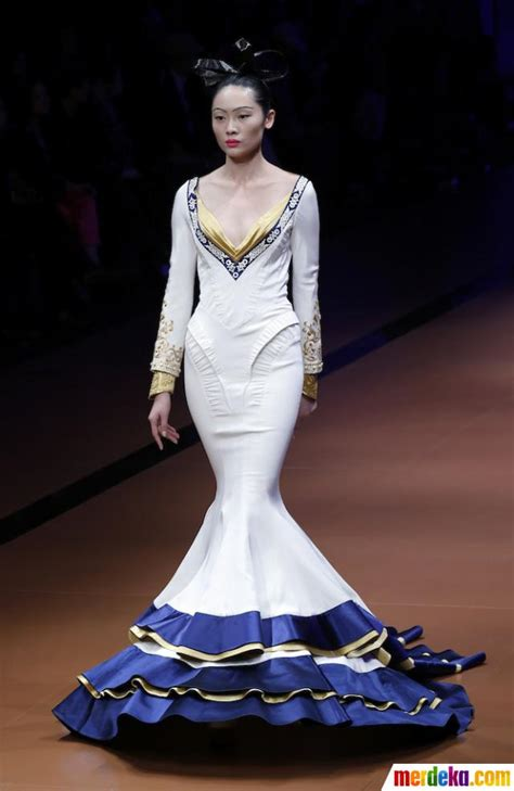 Gaun India 26 foto pesona busana busana anggun di china fashion week 2014 merdeka