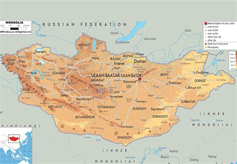 themes of geography mongolia mongolei geographischen karte