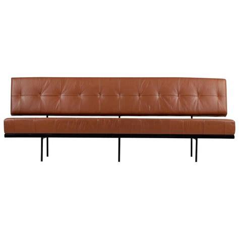 beautiful 1960s florence knoll custom daybed sofa cognac