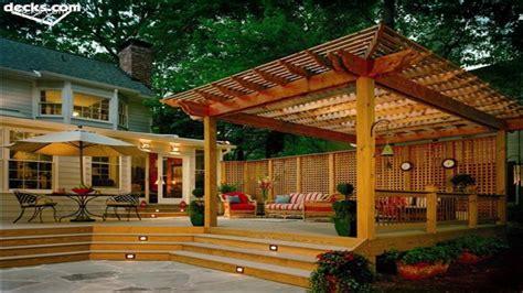 posite deck with pergola interior designs