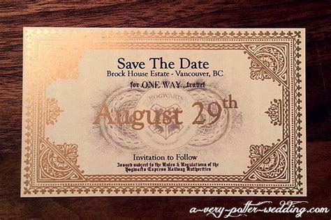 hogwarts express save the date magnets a very potter wedding