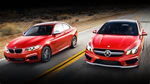 Difference Between Bmw And Mercedes Bmw 228i Coupe Vs Audi A3 Sedan And Mercedes
