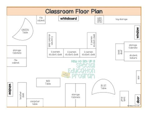classroom layout for autistic students quot how to set up a special education program quot floor plans